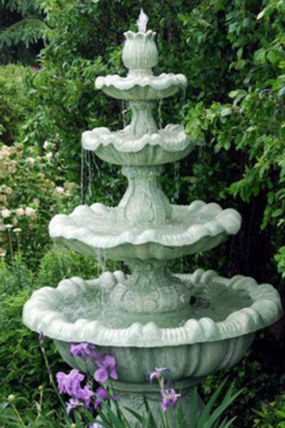 new large outdoor 4 tier garden water feature fountain ebay. Black Bedroom Furniture Sets. Home Design Ideas