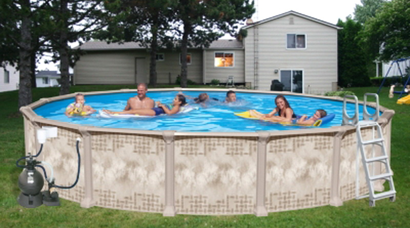 New Huge 24 39 X 52 Swimming Pool Above Ground Round Deluxe Heritage Nautilus Ebay