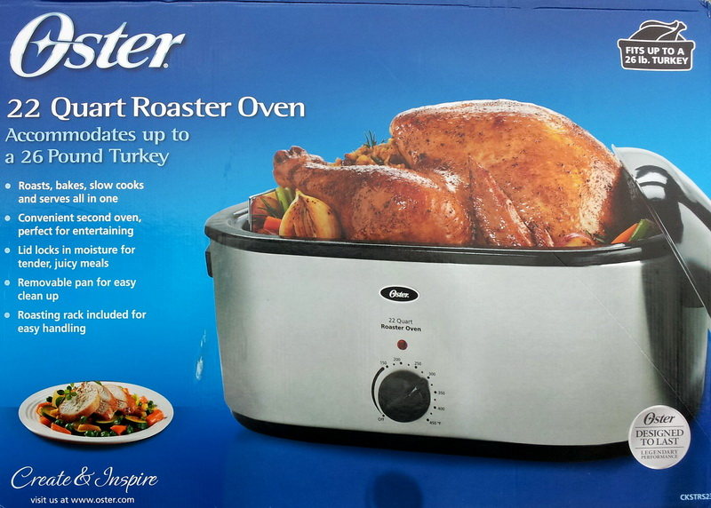 New Stainless Steel Oster 22 Qt. Electric Large Heavy Duty ... Oster 22 Quart Roaster Oven