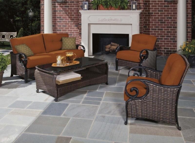 New La Z Boy Deep Seating 4 Piece Outdoor Patio Furniture