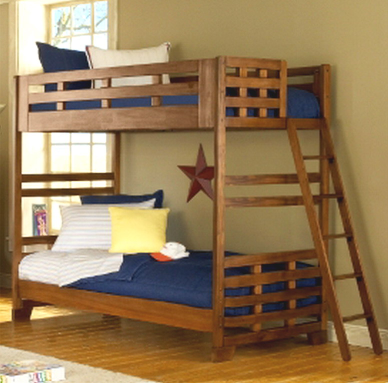 New Kids Solid Wood Bedroom Furniture Bunk Bed Twin Over