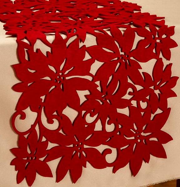 runner Patterns  Table table Large Runner Christmas 12 Felt christmas  felt http://ebay.com/itm/New