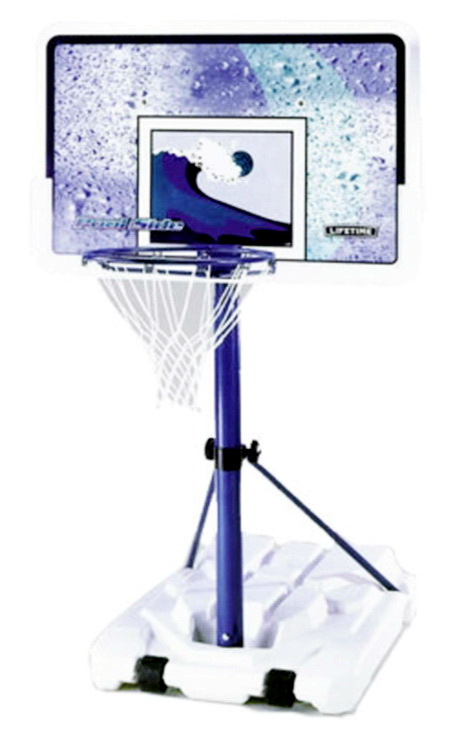 New Pool Basketball Goal Backboard 44 Pool Side Portable B Ball Hoop Swimming Ebay