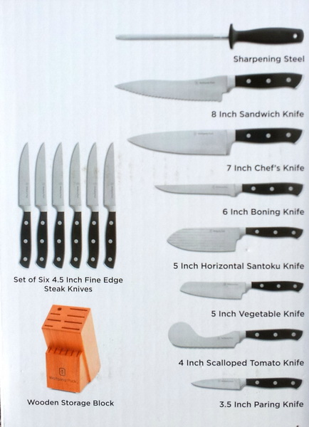 New Kitchen Knives Wolfgang Puck 15 Piece Cutlery Set Wood