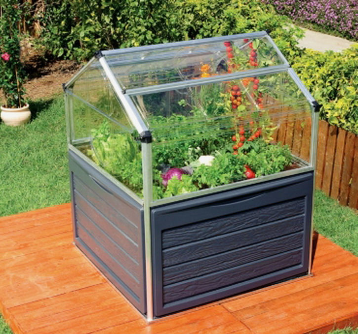 New 46 square raised garden bed elevated vented greenhouse storage 59 tall ebay - Elevate the sustainable house ...