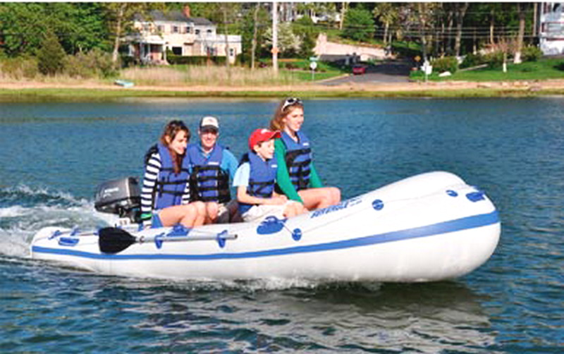 New 1 2 3 or 4 person inflatable dinghy fishing boat raft for 4 person fishing boat