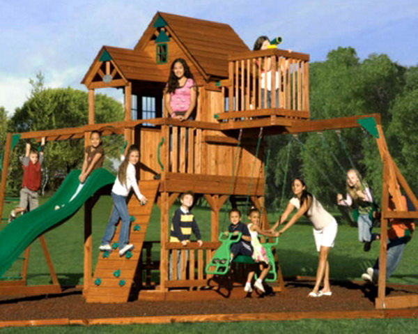 little tikes clubhouse swing set manual