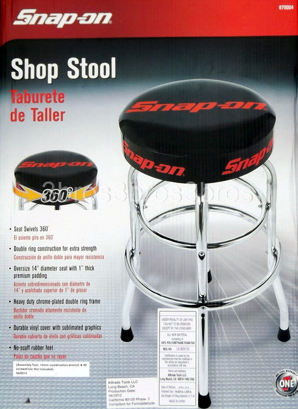 New Snap On Shop Work Bar Stool Heavy Duty Frame 14