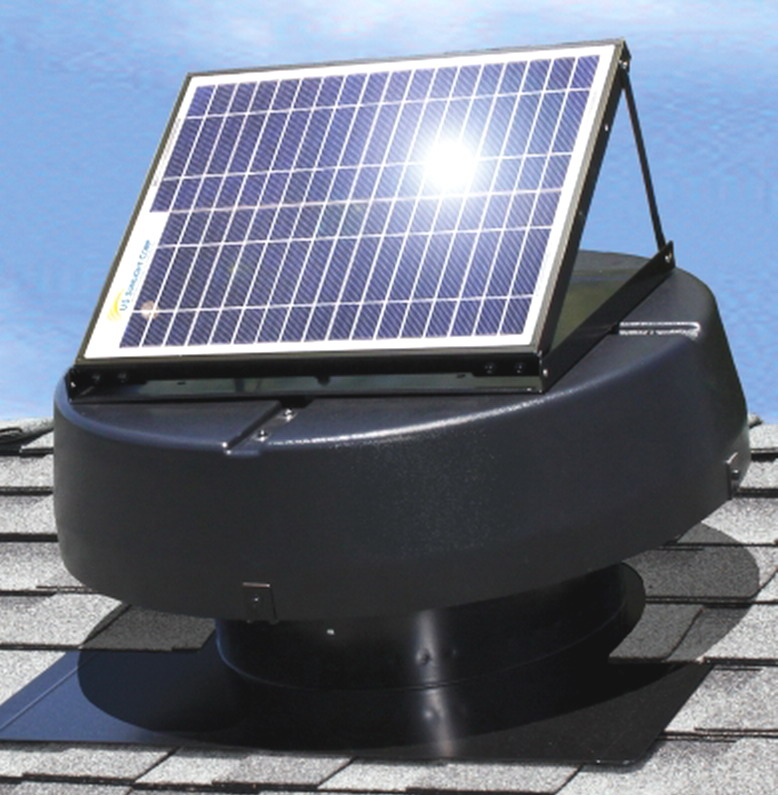 New Solar Powered Attic Fan Ventilator Roof Air Vent Roof