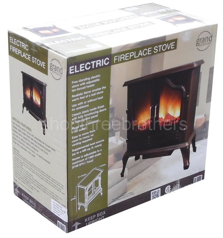 new free standing portable electric fireplace stove space
