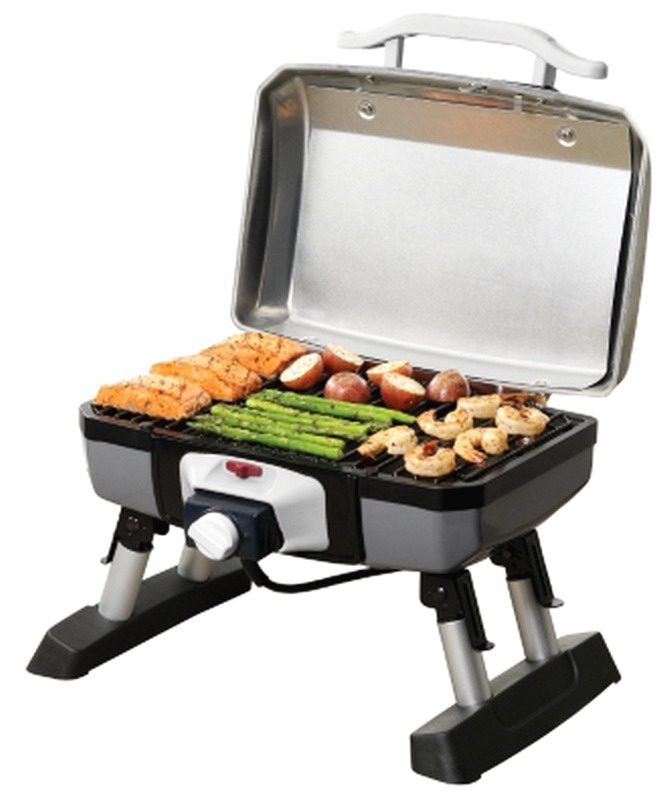 Small Electric Grills Outdoor ~ New cuisinart ceg t outdoor electric tabletop patio