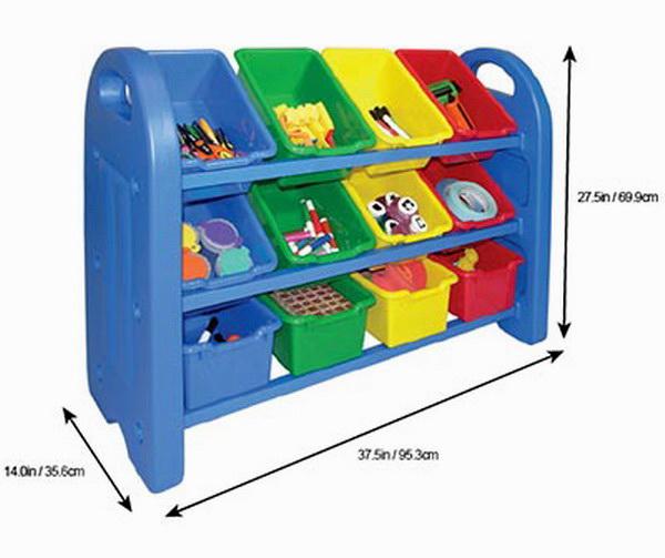 new toy chest 12 bin shelving kids storage shelf multi. Black Bedroom Furniture Sets. Home Design Ideas