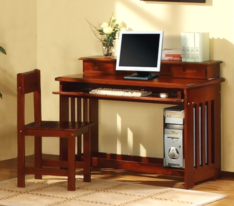 Kids Wood Twin Over Full Bunk Bed Bedroom Furniture Set Desk TV Stand