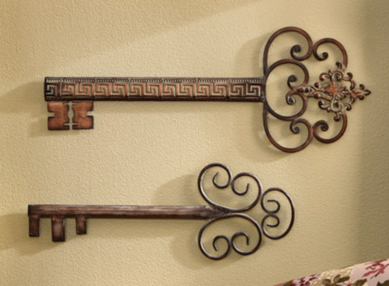 Wall Decor Keys : New decorative antique vintage wall keys style quot