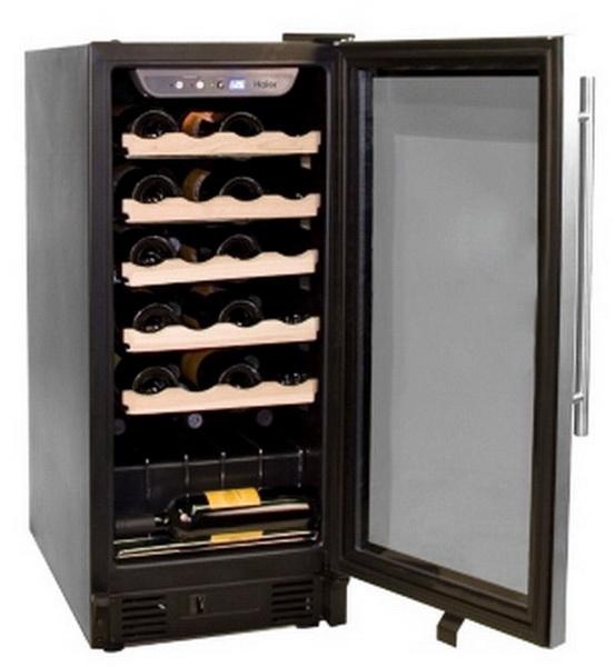 new haier 26 bottle under counter wine cooler fridge. Black Bedroom Furniture Sets. Home Design Ideas