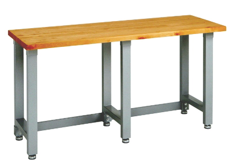 "... Heavy Duty Work Bench Workbench Shop Table Steel Frame Wood Top 37"" H"